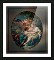 Jupiter In The Guise Of Diana And Callisto by Francois Boucher Picture Frame print