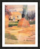 Farmhouses in Arles by Gauguin Picture Frame print