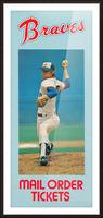 1977 Atlanta Braves Season Ticket Order Form Reproduction Baseball Art Picture Frame print