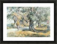 Wayside Inn, Mass. by Hassam Picture Frame print