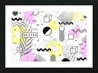 graphic design geometric background Picture Frame print