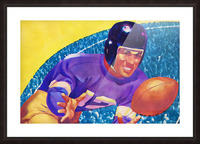 Football Art Watercolor Sports Art Picture Frame print