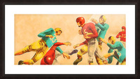 Vintage 1950s Football Art Print Picture Frame print