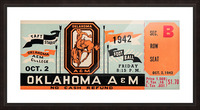 Oklahoma A&M Aggies Football Ticket Stub Art OSU Cowboys Ok State College Football Art Picture Frame print