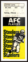 1974 Pro Football Season_AFC Playoff_Pittsburgh Steelers vs. Buffalo Bills_NFL Ticket Stub Art Picture Frame print