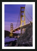 Golden Gate Blue Hour Picture Frame print
