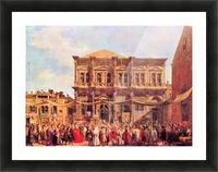 Festival in San Rocco by Canaletto Picture Frame print