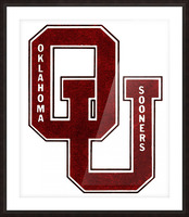1960 OU Oklahoma Sooners art Picture Frame print