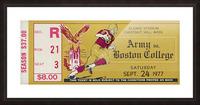 1977 Boston College vs. Army Picture Frame print