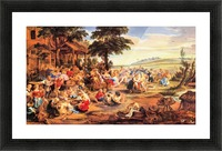 Flemish Kirmes by Rubens Picture Frame print
