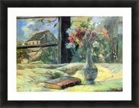 Flower Vase in Window by Gauguin Picture Frame print