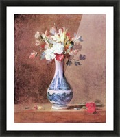 Flowers in a Vase by Jean Chardin Picture Frame print
