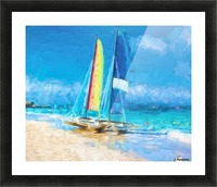 Sailing Picture Frame print