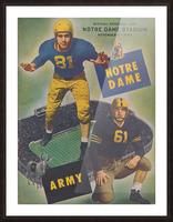 1947 Army vs. Notre Dame Football Program Cover Art_Vintage College Football Program (1) Picture Frame print