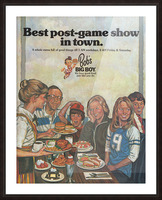 1978 Bobs Big Boy Restaurant Ad_Best Vintage Ads_Retro Advertisement_Post Game Show Ad Picture Frame print