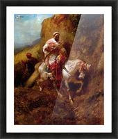 Arab warrior Picture Frame print