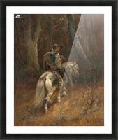 Reiter im Wald Picture Frame print