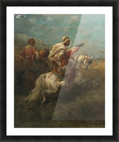 Arabs riding horses Picture Frame print