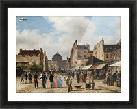 Market view Picture Frame print