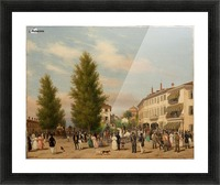 City street scene Picture Frame print