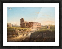 Vista del Coliseo Picture Frame print