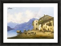 Landscape near Lake Como Picture Frame print