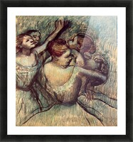Four dancers in half figure by Degas Picture Frame print