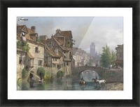 On the river Picture Frame print
