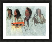 Four Indians by Bierstadt Picture Frame print