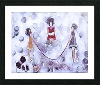 3 petits chats no4 Picture Frame print