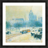 Winter in Union Square by Hassam Picture Frame print