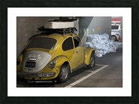 Punch Buggy Yellow No Punchbacks Picture Frame print
