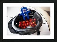 Robot Bike Helmet Tomatoes Picture Frame print