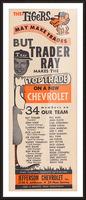 jefferson chevrolet detroit michigan car dealer auto sales ad vintage automobile sales advertising Picture Frame print