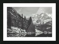 Maroon Bells B&W  Picture Frame print