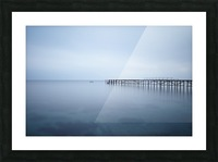 Abandoned pier in the sea at sunset Picture Frame print