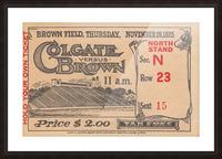 1925 Brown vs. Colgate Picture Frame print
