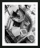 Fibonacci stairs Picture Frame print