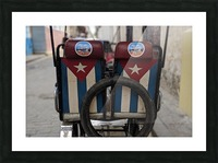 Cuban Bicycle Taxi Picture Frame print