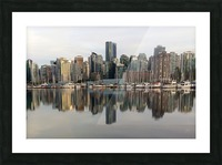 Downtown Reflection Picture Frame print
