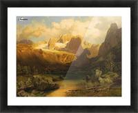 Alpiner Berggipfel Picture Frame print