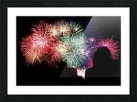 Fireworks Picture Frame print