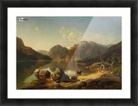 Norwegische Gebirgslandschaft am Morgen Picture Frame print