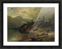 An einem Bergsee Picture Frame print