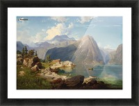 Hardanger Fjord Picture Frame print
