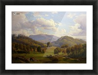 Blick auf den Felsberg im Odenwald Picture Frame print