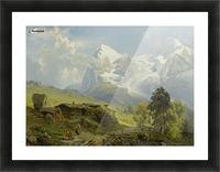 Blick von der Wengerenalp auf Eiger und Monch Picture Frame print