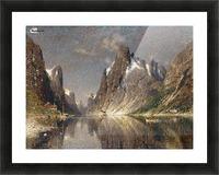 Norwegische Fjordlandschaft Picture Frame print