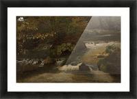 Landscape on a river Picture Frame print