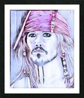 Portrait dun pirate Picture Frame print